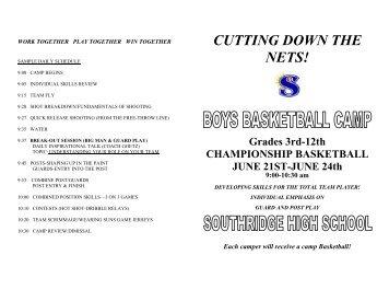 southridge boys basketball camp brochure doc kennewick