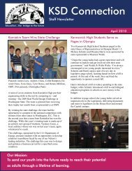 April 2010 Staff Newsletter - Kennewick School District
