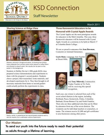 March 2011 Staff Newsletter - Kennewick School District