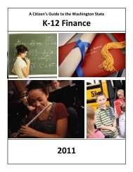 Citizen's Guide to K-12 Finance - Washington State Legislature