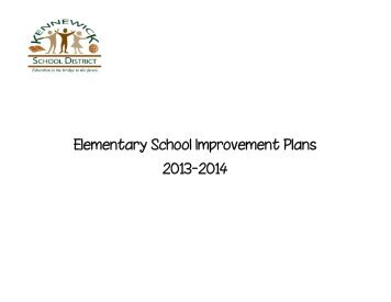 Elementary School Improvement Plans 2012-2013 - Kennewick ...