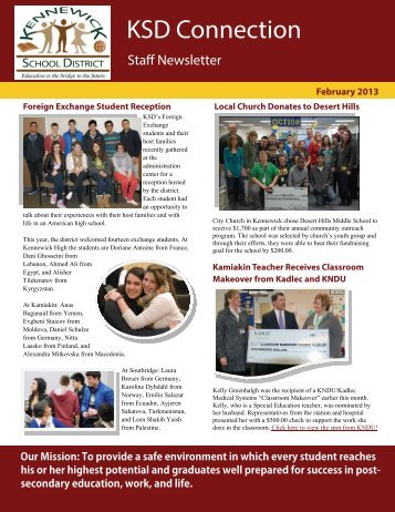 February Staff Newsletter - Kennewick School District