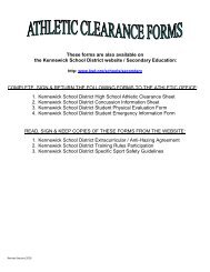Clearance Packet - Kennewick School District