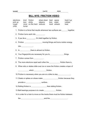 worksheets bill nye gravity worksheet opossumsoft worksheets and printables. Black Bedroom Furniture Sets. Home Design Ideas