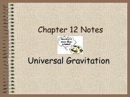 Chapter 12 Notes – Universal Gravitation