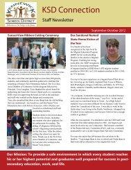 September-October 2012 Staff Newsletter - Kennewick School District