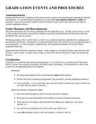 Graduation Events and Procedures - Kennewick School District