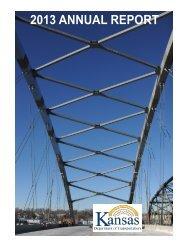 2013 ANNUAL REPORT - Kansas Department of Transportation