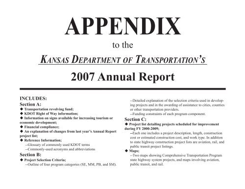 Appendix page 1.indd Kansas Department of Transportation