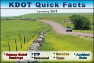 KDOT Quick Facts - Kansas Department of Transportation
