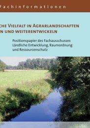 Biologische Vielfalt in Agrarlandschaften bewahren und ...