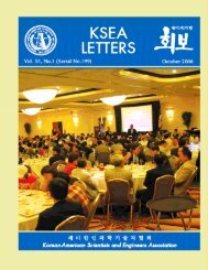 KSEA Letters, Vol. 35, No.1 (October 2006) 1 - Korean-American ...