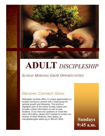 ADULT DISCIPLESHIP - Aldersgate United Methodist Church, Slidell