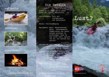 Ausschreibung Lofer 2012 - Deutsche Kanujugend