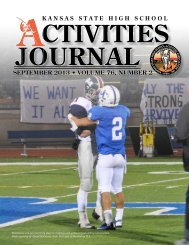 SEPTEMBER 2012 • VOLUME 75, NUMBER 2 ... - kshsaa