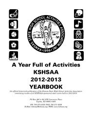 A Year Full of Activities KSHSAA 2011-2012 YEARBOOK