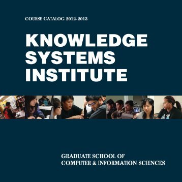 Course Catalog - Knowledge Systems Institute
