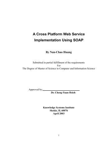 A Cross Platform Web Service Implementation Using SOAP