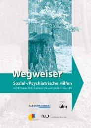 Angebote für psychisch kranke Menschen - Alb-Donau-Kreis