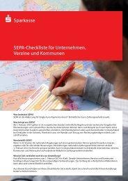 SEPA-Checkliste für Unternehmen, Vereine und Kommunen Größe ...