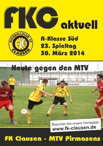FKC Aktuell - 23. Spieltag - Saison 2013/2014