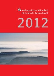 Geschäftsbericht 2012 - Kreissparkasse Birkenfeld