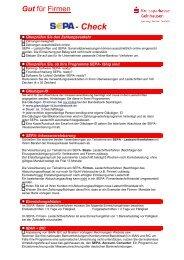 SEPA-Checkliste für Unternehmen - Kreissparkasse Gelnhausen