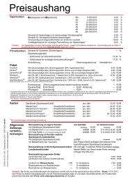 Preisaushang 2012-10-15 Seite 1 und 2 - Kreissparkasse Gelnhausen
