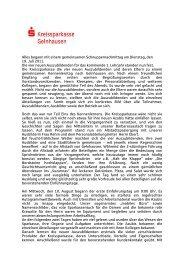 3. Ausbildungsjahr - Kreissparkasse Gelnhausen