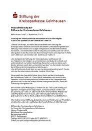 PM Stiftung Tafel- Spende - Kreissparkasse Gelnhausen