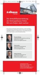 Zum Info-Flyer - Kreissparkasse Peine