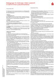 Bedingungen für Zahlungen mittels Lastschrift im SEPA-Firmen ...
