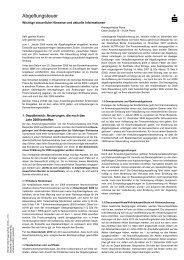 Kunden-Informationsblatt zur Abgeltungsteuer - Kreissparkasse Peine