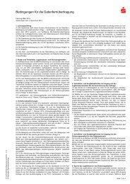 Bedingungen für die Datenfernübertragung - Kreissparkasse Peine