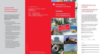 Download Leasing-Flyer - Kreissparkasse Herzogtum Lauenburg