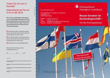Download Flyer Auslandsgeschäft - Kreissparkasse Herzogtum ...