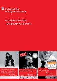 Geschäftsbericht 2009 - Kreissparkasse Herzogtum Lauenburg