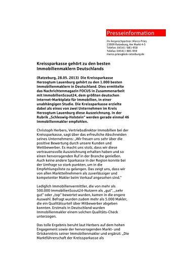 Presseinformation - Kreissparkasse Herzogtum Lauenburg