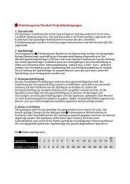 S-Prämiensparen flexibel: Produktbedingungen