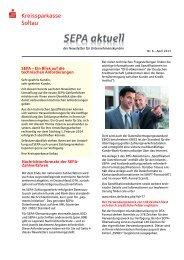 Newsletter Nr. 6 - April 2013