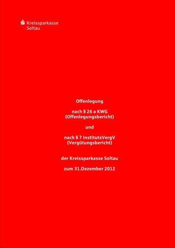 Offenlegungsbericht 2011 der Kreissparkasse Soltau