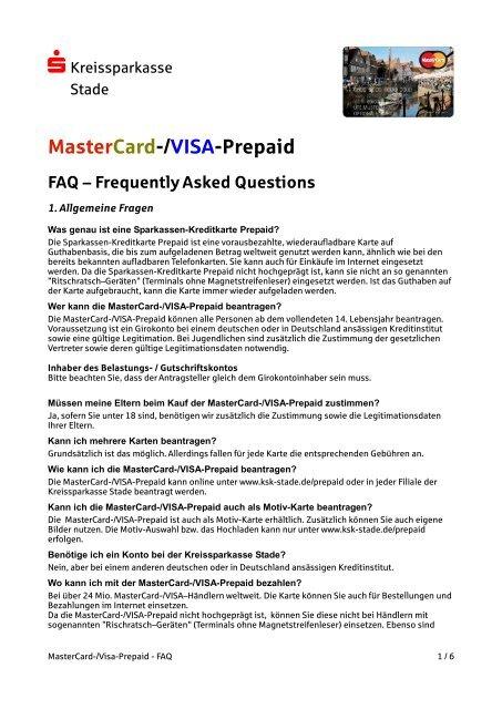 sparkassen kreditkarten mastercard