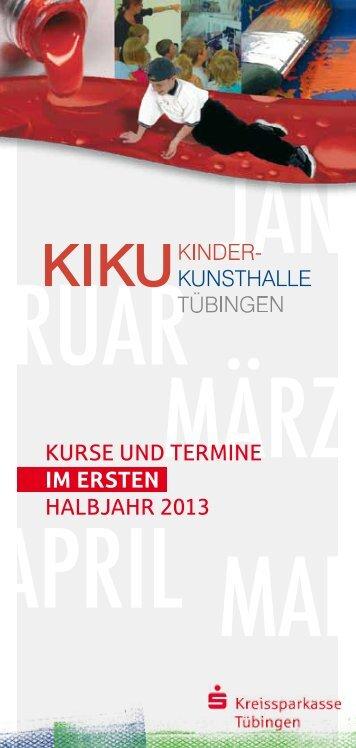 Kurse und Termine im ERSTEN halbjahr 2013 - Kreissparkasse ...