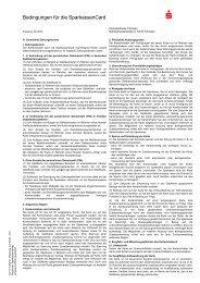 Bedingungen für die SparkassenCard - Kreissparkasse Tübingen