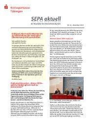 SEPA-Newsletter Nr. 8 - Juni 2013