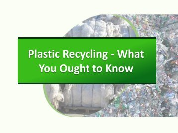 Plastic Recycling in Brisbane - What You Ought to Know