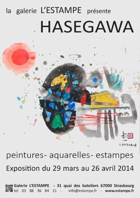 Exposition Hasegawa à L'Estampe  -  petite preview