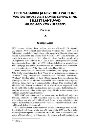 eesti vabariigi ja nsv liidu vaheline vastastikuse abistamise leping ...