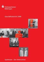 Geschaeftsbericht 2008 - Kreissparkasse Böblingen