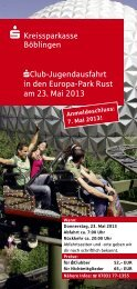 sClub-Jugendausfahrt in den Europa-Park Rust am 23. Mai 2013